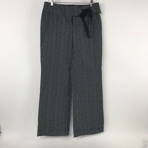 White House Black Market Career Pants Black Stripe